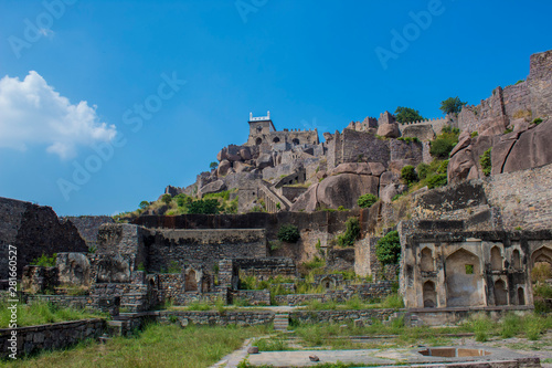 The Amazing landscape of the historic Golconda, Hyderabad, India Canvas Print
