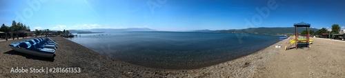 Foto  Beachline in Struga at Lake Ohrid