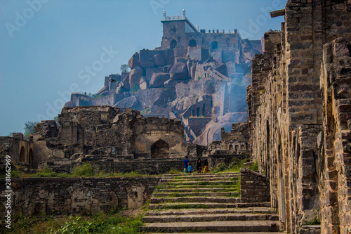 The Amazing landscape of the historic Golconda, Hyderabad, India Wallpaper Mural
