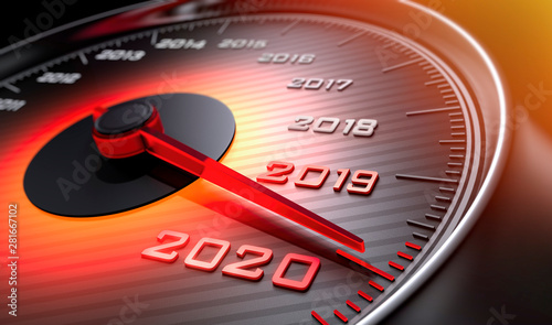 Fotografia  Tachometer 2019 auf 2020