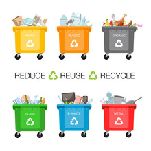 Plastic Containers For Garbage...