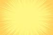 canvas print picture Comic book background. Sunburst halftone pattern in pop art style