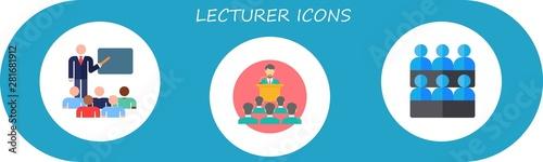 Obraz na plátně lecturer icon set