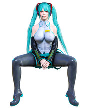3D Comics Cosplay Anime Girl.