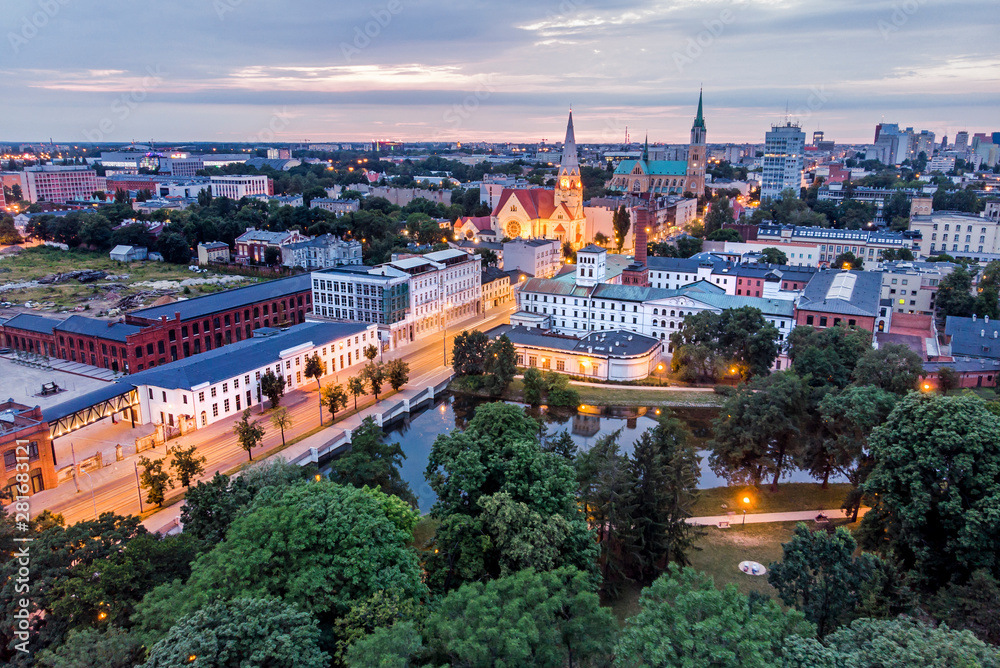 Fototapeta Biała Fabryka, Łódź, Polska.