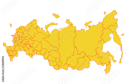 Photo  Russia map. Russian federation vector map. Vector illustration