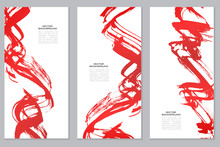 Vertical Vector Red Banners Se...