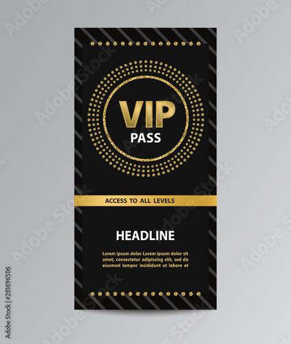 Fotografía  Black VIP pass admission
