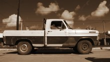 Retro Pick Up Truck In The Str...