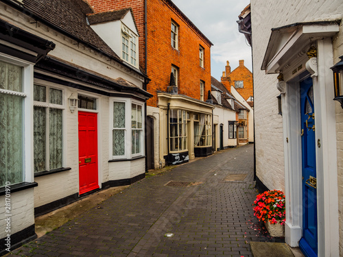 Wall Murals Narrow alley old historic roman market town of alcester warwickshire england uk