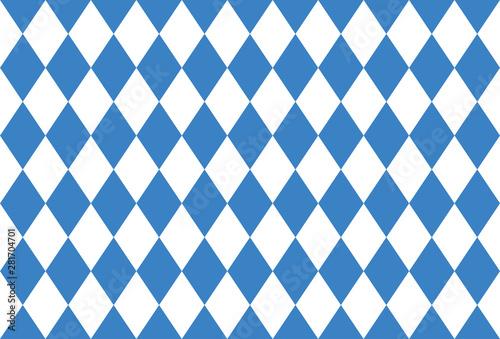 Valokuvatapetti Rautenmuster für Oktoberfest, Banner Oktoberfest, Vektor Illustration Hintergrun