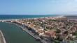 Port la Nouvelle residential coastal area houses beach mediterranean sea France Aude Occitanie