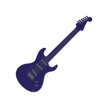 Electric Guitar Musical On Whi...