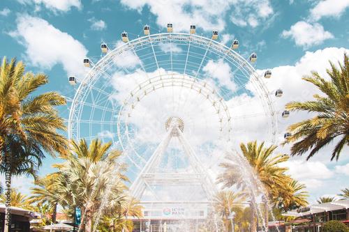 Ferris Wheel In Orlando Florida Icon Park Wallpaper Mural