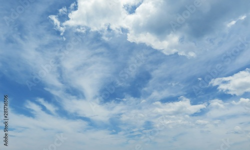Canvas Prints Heaven Beautiful sky view with fluffy clouds