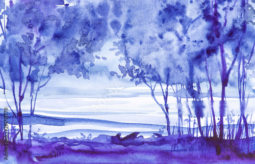 Watercolor illustration of ...