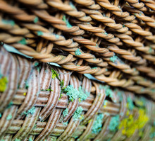 Abstract Weathered Wicker Texture