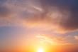 Beautiful sky sunset and bright warm sun.