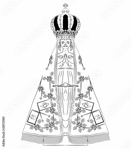 Our Lady Aparecida. Saint of catholic church. Tablou Canvas