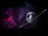 Planets and galaxy, science fiction wallpaper. Beauty of deep space. Billions of galaxy in the universe Cosmic art background,
