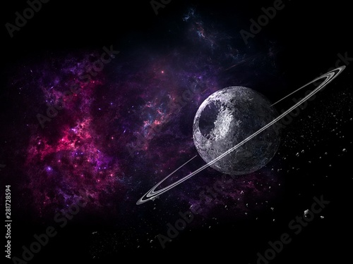 Planets and galaxy, science fiction wallpaper. Beauty of deep space. Billions of galaxy in the universe Cosmic art background, - 281728594