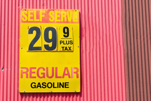 Vintage Gas Station Price Sign...