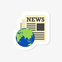 News Sticker Icon World Globe ...
