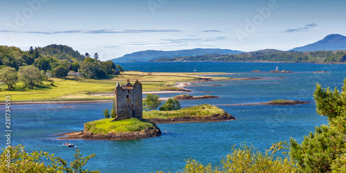 Stalker Castle, Scottish Highlands Canvas Print