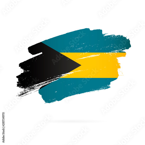 Bahamas flag. Vector illustration on a white background. Wall mural