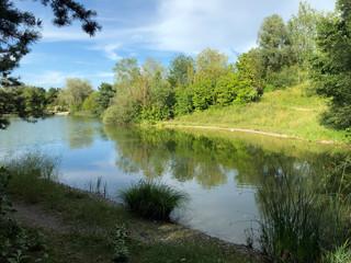 Fototapeta na wymiar Irchel Park or Irchelpark or Park Irchel - Zurich, Switzerland
