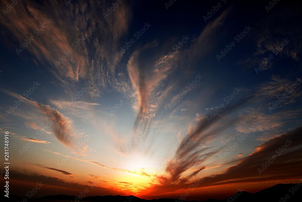 Fototapety, obrazy: tramonto in sardegna