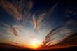 canvas print picture - tramonto in sardegna