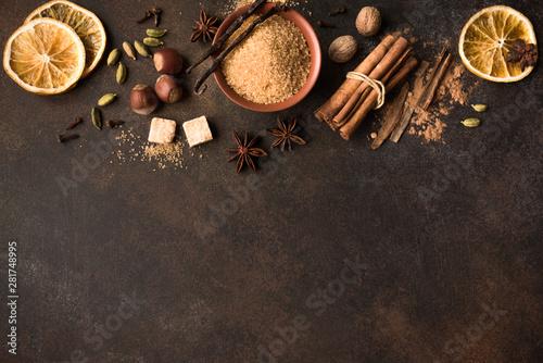Foto op Plexiglas Chocolade Winter Spices
