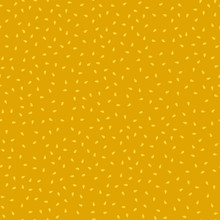 Simple Mustard Yellow Sesame Seeds Seamless Pattern, Vector