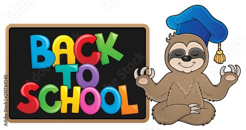 Foto auf AluDibond Für Kinder Back to school design 9