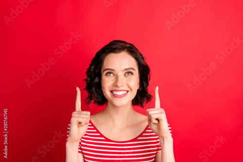 Close-up portrait of her she nice-looking attractive lovely cheerful cheery glad Fototapeta