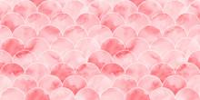 Pink Sea Wave Geometric Textur...
