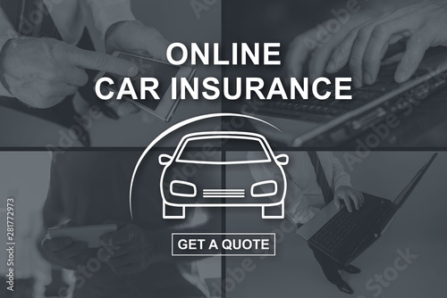 Canvas Prints Countryside Concept of online car insurance