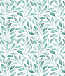 canvas print picture Seamless pattern with stylized tree branches. Watercolor illustration.