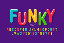 Children's Style Font Design, Colorful Alphabet Letters And Numbers