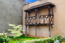 Beautiful Half-timbered Balcony In Montargis (nicknamed The Venice Of Gâtinais) On Which Juliette Could Have Listened To Romeo Sing Her Romances