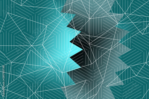 Tuinposter Decoratief nervenblad abstract, blue, wave, design, illustration, wallpaper, waves, water, art, pattern, curve, backdrop, graphic, line, lines, sea, color, light, backgrounds, texture, white, motion, flowing, ocean, vector