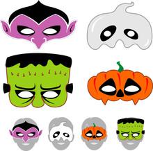 Halloween Spooky Masks Set
