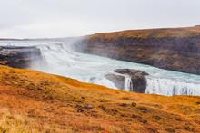 Famous Gulfoss Waterfall On Th...