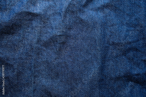 Navy blue fabric texture background top view. Canvas-taulu