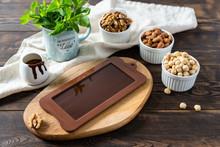Dark Homemade Chocolate Bar In...