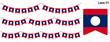 ラオスの国旗のガーラーンド ベクターデータ(bunting garland)