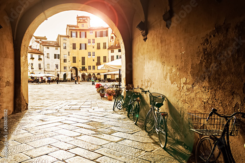 Sunset in Lucca, Italy