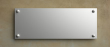 Blank Wall Sign Mockup, 3d Ill...