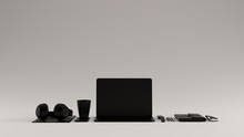 Black Contemporary Hot Desk Of...